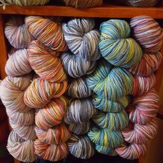 New sock yarn for Spring 2017 - Mirasol Khusku. This yarn has a high bamboo content which makes for cooler socks with natural antibacterial properties.