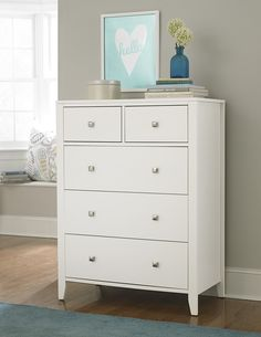The NE Kids Pulse 5 Drawer Chest is a lovely traditional-style addition to any bedroom. Its simple, bold look provides ample functionality. Colorful Furniture, Unique Furniture, Shabby Chic Furniture, Online Furniture, Bedroom Furniture, Home Furniture, Furniture Design, Chest Furniture, Furniture Storage