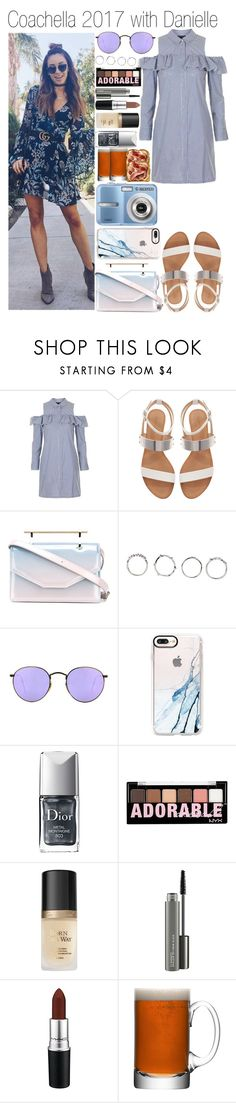 """""""• Coachella 2017 with Danielle"""" by dianasf ❤ liked on Polyvore featuring Topshop, Zara, M2Malletier, Boohoo, Ray-Ban, Casetify, Christian Dior, NYX, Too Faced Cosmetics and MAC Cosmetics"""