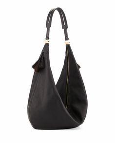 Sling 15 Horsehair Tassel Hobo Bag, Black by THE ROW at Neiman Marcus.