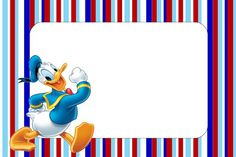 Donald Duck - Complete Kit with frames for invitations, labels for snacks, souvenirs and pictures! | Making Our Party