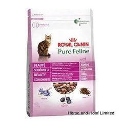 Royal Canin Pure Feline No 1 Beauty Cat Food 300g Royal Canin Pure Feline No 1 Beauty has been designed for adult cats over 1 year of age that may need an extra bit of help with their coat & skin health.