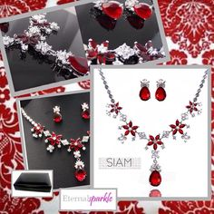 Last colour in this range. Light Siam.Red Please click on link in bio to purchase this product or visit our Amazon store eternalsparkle . Thank you �� #18k#white#gold#gemstone#necklace#earrings#set#leather#box#wedding #weddingdress #bridal #bridesmaids#siam#red#light Siam#white-topaz#onlineboutique #amazon-shop#eternalsparkle #instajewelry #instalike#bollywoodstyle#eveninggowns #jewellery#jewellerystore#jewelry http://gelinshop.com/ipost/1520060401248611739/?code=BUYVuGdj62b