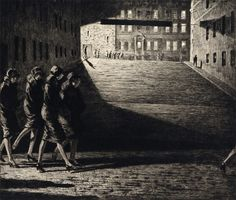 Shadows on the Ramp. 1927   Martin Lewis