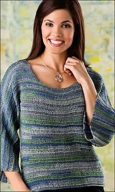 Janel Tunisian Pullover by Dora Ohrenstein-Crochet World Magazine-August 2013