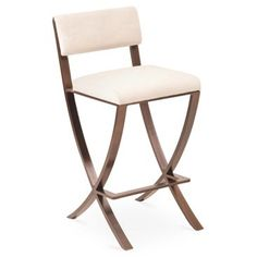Check out this item at One Kings Lane! Naples Counter Stool, Pearl