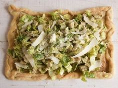 Get Herbed Chicken Caesar Salad Pizza Recipe from Food Network