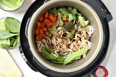 Lo Mein is one of our favorite vegetarian dinners, so trying Instant Pot Lo Mein was something we were excited to try! If you have not started the new Weight Instant Pot Pressure Cooker, Pressure Cooker Recipes, Pressure Cooking, Slow Cooker, Chinese Vegetables, Mixed Vegetables, Veggie Lo Mein, Chinese Cabbage, Chinese Food
