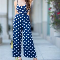 Asos polka dot jumpsuit size 2 Never worn out new without tag ASOS jumpsuit  with wide legs size 2 polka dot 2 side cute very cute ASOS Pants Jumpsuits & Rompers