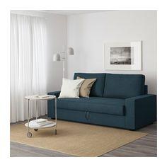 VILASUND 3-zitsslaapbank - Hillared donkerblauw - IKEA