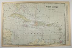 Water Island Danish West Indies Now The US Virgin Islands - Map of us virgin islands and bahamas