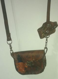 Cross body juice bag and mod holster #rileyscustomleatherworks