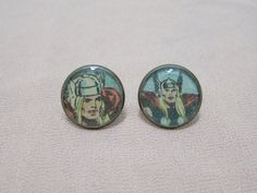 Thor Vintage Comic Earring Studs by Nerilia on Etsy, $13.00