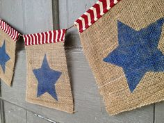 Star garland fourth of July Banner Star Banner 4th of july decor