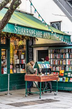 The famous Shakespeare and Company bookshop in Paris, France. The Latin Quarter is a great place to stay in Paris. Click through for more pictures on the A Lady in London blog.   #paris #france #bookshop