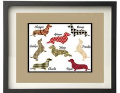 Dachshund Art by SunburstArtGraphics on Etsy