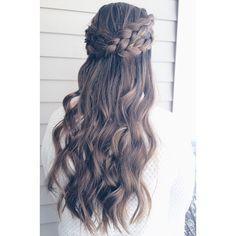 Dutch crown #dutchbraid #hairstylesdiy #hairstyles #diy