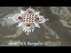 Rangoli Designs Flower, Small Rangoli Design, Rangoli Designs Diwali, Kolam Rangoli, Padi Kolam, Simple Rangoli, Henna Patterns, Dots, Make It Yourself