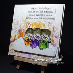 Claudia's Karteria Get Well, I Card, Angels, Handmade