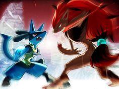 Pokemon Mega Lucario by on DeviantArt Pokemon Fan Art, My Pokemon, Pokemon Fusion, Cool Pokemon, Pokemon Stuff, Fanart Pokemon, Pokemon Zoroark, Mega Lucario, Digimon