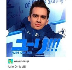 Brendon Urie!!! On ice