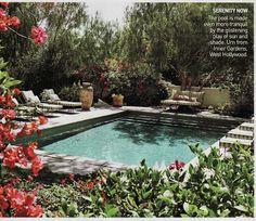 Vogue Living, Jennifer Garner's pool