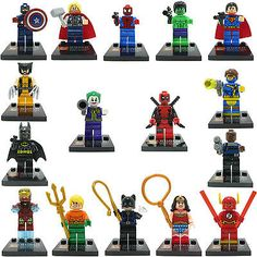 #16pcs #marvel dc super hero avengers mini #figure thor hulk custom made fits leg,  View more on the LINK: http://www.zeppy.io/product/gb/2/272118037705/