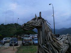 detalle del CABALLO DE MADERA en el Fortin Solano.Puerto Cabello.Venezuela