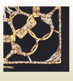 Gucci iconic print silk scarf via mylusciouslife.com