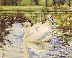 Watercolors by Grand Duchess Olga Alexandrovna Romanova of Russia.