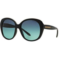 Tiffany & Co. Tf4115 55 Black Square Sunglasses ($320) ❤ liked on Polyvore featuring accessories, eyewear, sunglasses, tiffany & co., tiffany & co glasses, tiffany & co eyewear, black eyewear and square sunglasses