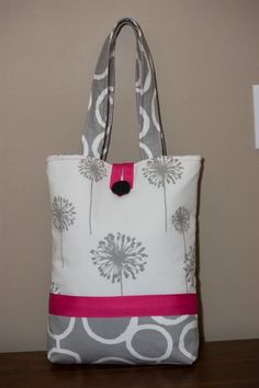 Large Handmade Fabric Tote Bag: