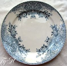 French blue transferware