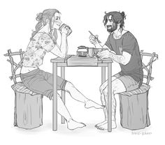 """hvit-ravn: """" 'You should shave your beard, dwarf.' 'Then i won't be a dwarf then.' 'You still will be a dwarf, cause you're so little. Well… firstly - because some food you. Tauriel Hobbit, Kili And Tauriel, O Hobbit, Legos, When You Kiss Me, I See Fire, Fantasy Couples, Jrr Tolkien, Gandalf"""
