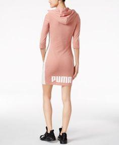 Puma T7 Hooded Dress - Pink XXS