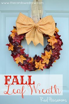 This is a pretty one! Fall Leaf Wreath