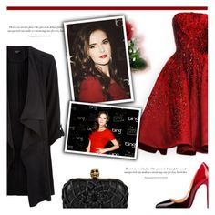 """""""Hot Red Dress"""" by antemore-765 ❤ liked on Polyvore featuring Elie Saab, Alexander McQueen, women's clothing, women, female, woman, misses and juniors"""