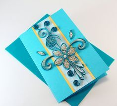 Beautiful Handmade Paper Quilling Card
