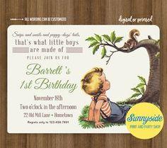 Boys Made of Birthday Invitation Frogs / Snips Snails Puppy