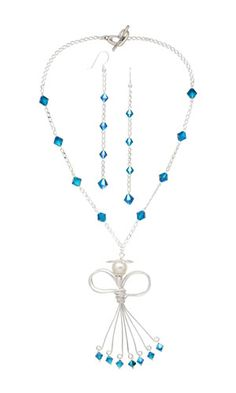 Single-Strand Necklace & Earring Set w/ SWAROVSKI ELEMENTS, Glass Pearl Bead & Wirework--Project