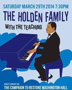 Help spread the word: Washington Hall is holding a fundraising concert on March 29 featuring the Holden Family and The Teaching. Tickets are only $20 on Brown Paper Tickets. If you can't make it to the show, you can still donate to the capital campaign through Historic Seattle: https://www.historicseattle.org/join/donation_select.aspx