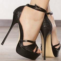 Escarpins compensés femmes taille 37 Noir talons de 15 cm
