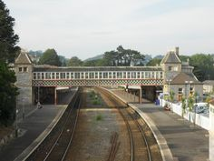 Torquay Railroad Station, where Marple and Poirot met during a prior festival (though Christie herself never had them meet).