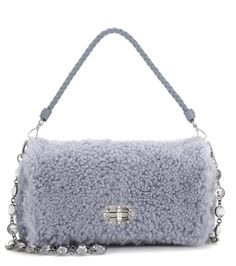 Miu Miu - Shearling shoulder bag - Miu Miu's plush shoulder bag has been crafted…