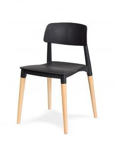 Krzesło ECCO - polipropylen / buk - Design Town Chair, Furniture, Design, Home Decor, Recliner, Homemade Home Decor, Home Furnishings, Design Comics, Decoration Home