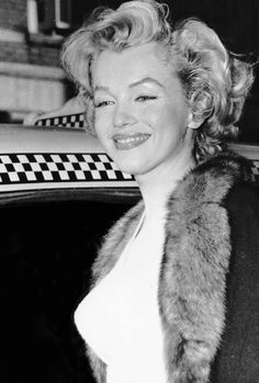"Marilyn arriving at the Actor's Studio to promote the play, ""Baby Doll"", December 4th 1956."