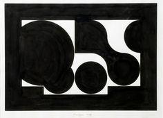 Rogelio Polesello, Black and White Forms, 1959