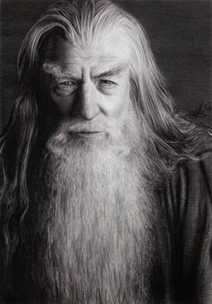 "Ian McKellen as Gandalf the Grey in ""The Lord of the Rings: The Fellowship of the Ring"", 2001"