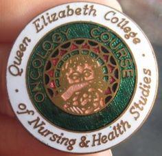 Queen Elizabeth College of Nursing & health Studies, UK School Badges, Nursing Pins, Vintage Nurse, Red Cross, Vintage Pins, Queen Elizabeth, Nurses, College, Student