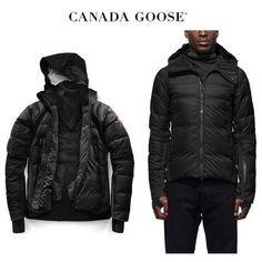 CANADA GOOSE ダウンジャケット CANADA GOOSE HyBridge Sutton Parka ミニマルな細身 Black